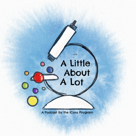 "Logo for ""A Little About A Lot"" podcast"
