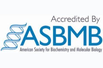 """Text that says """"Accredited By ASBMB"""""""